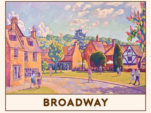 'Broadway' Railway Poster Print