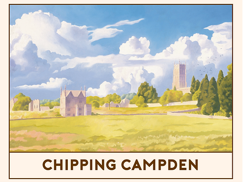 'Chipping Campden' Railway Poster Print