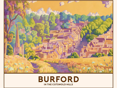 'Burford' Signed Limited Edition Railway Poster