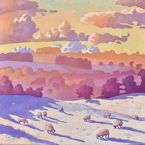 Guy Warner Artist Winter Scene Gloucestershire Cotswolds