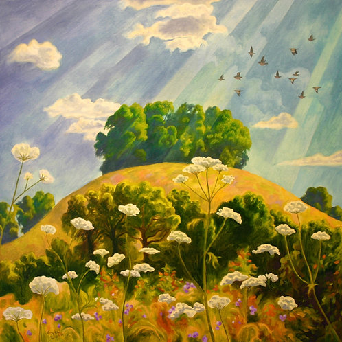 'The Hill in Summer' Signed Print