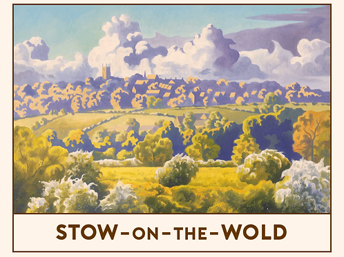 'Stow-on-the-Wold' Railway Poster Print