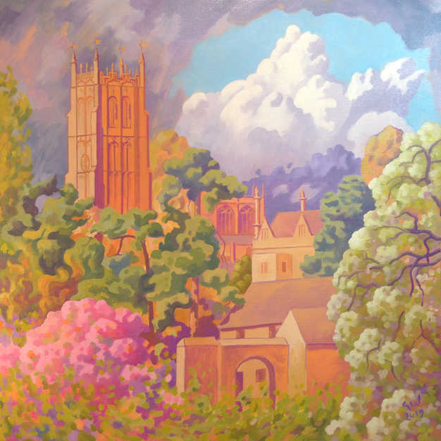 Chipping Campden Church in Spring
