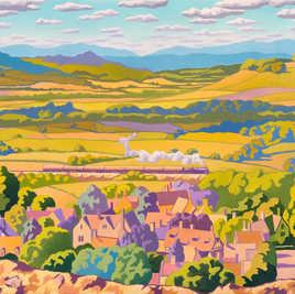 Stanton from the Cotswold Escarpment