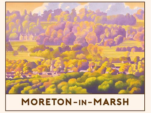 'Moreton-in-Marsh' Railway Poster Print