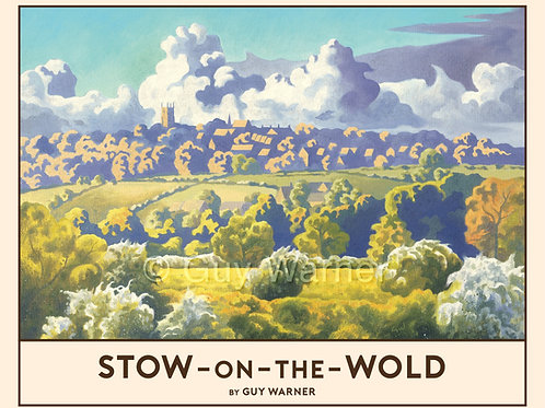 'Stow-on-the-Wold' Signed Limited Edition Railway Poster