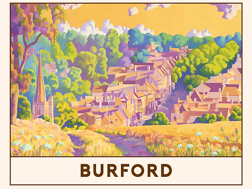 'Burford' Railway Poster Print