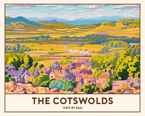 'The Cotswolds' Signed Limited Edition Railway Poster