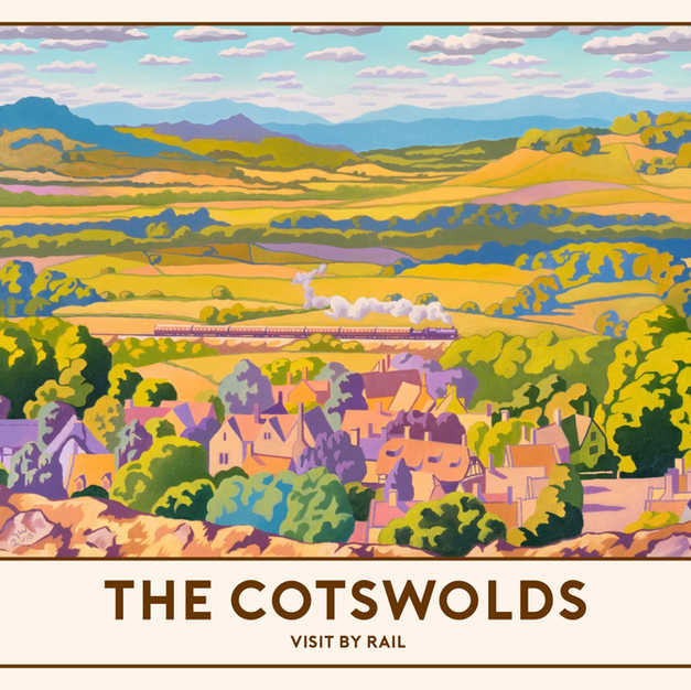 The Cotswolds Railway Poster