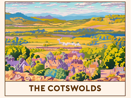 'The Cotswolds' Railway Poster Print