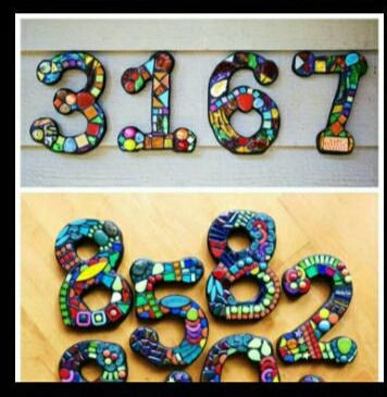 Mosaic House Number Workshop 7/31