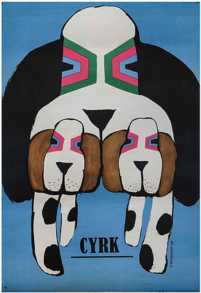 1267 - 3 Beagles on Blue Background