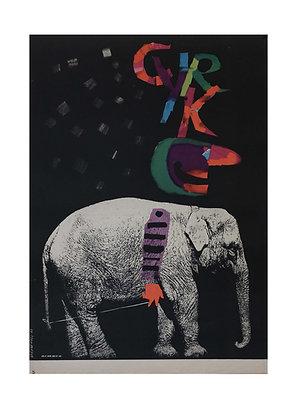 1297 - Elephant on Black Background