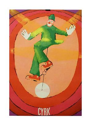 1198 - Green Clown on Monocycle