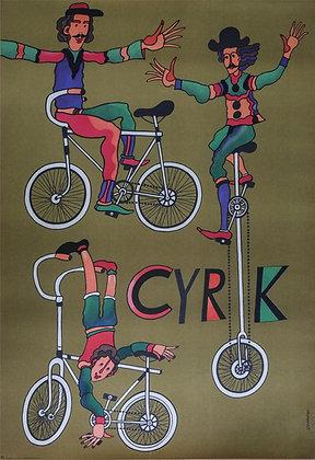 1027 – Three Clowns on Bikes / Monocycle