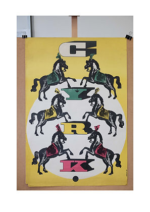 1289 - Circus Horses (Yellow Background)