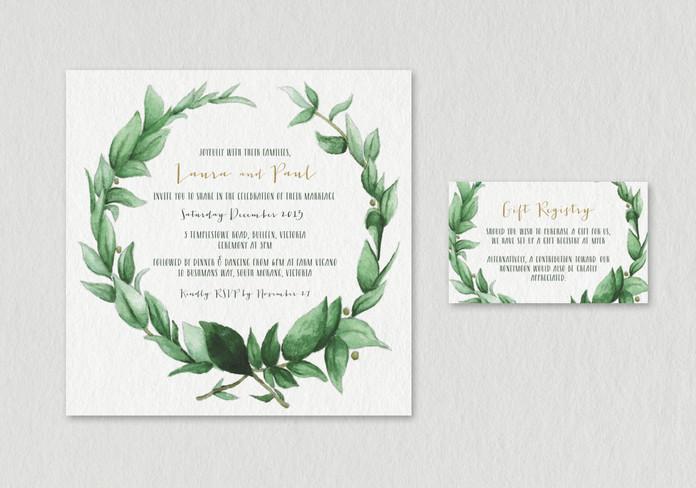 L&P Wedding Invitation