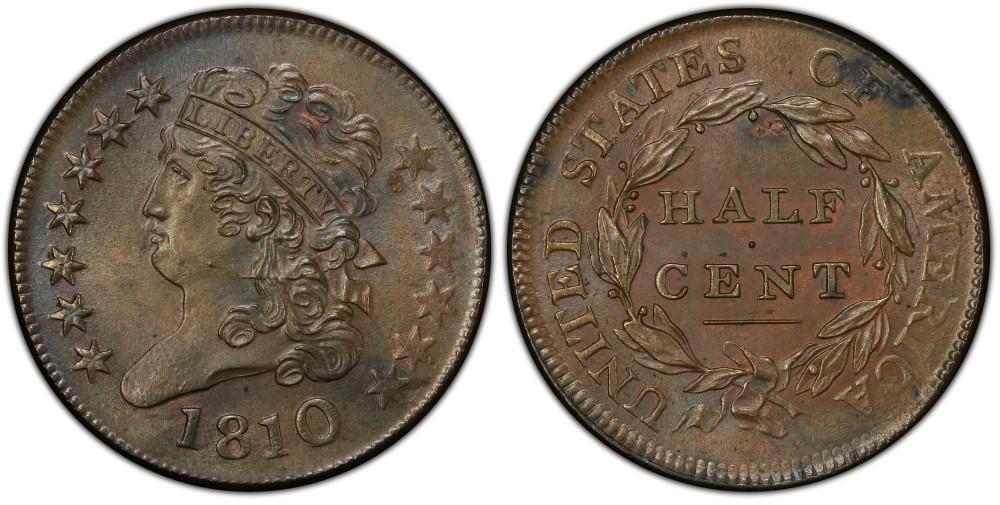 1810 1/2C PCGS MS64BN