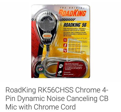 RoadKing Chrome 4 Pin Noise Canceling CB Mic