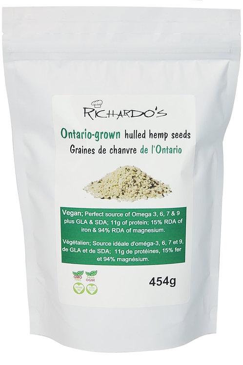 Hemp Seeds- 908 g size: Ontario grown