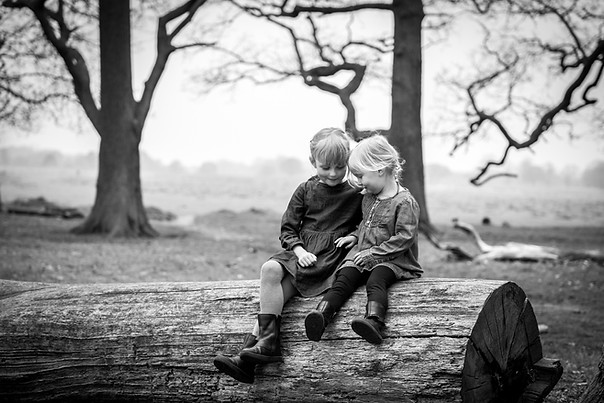 Documentary style photography of siblings