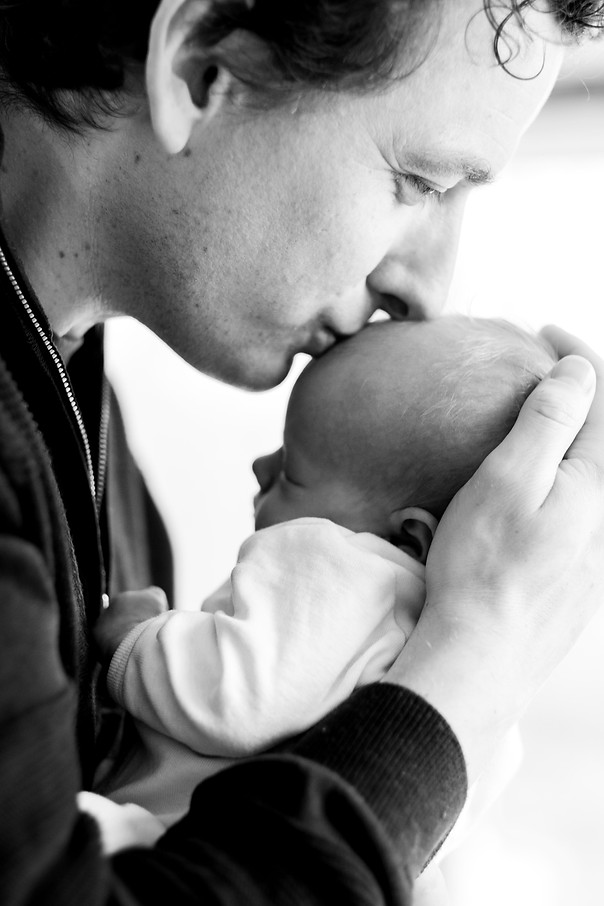 Newborn dad and daughter inspiration photography