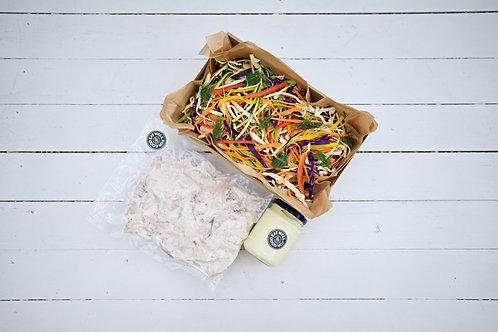 Shredded Chicken Coleslaw Salad