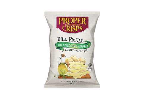 Dill Pickle Crisps - home compostable