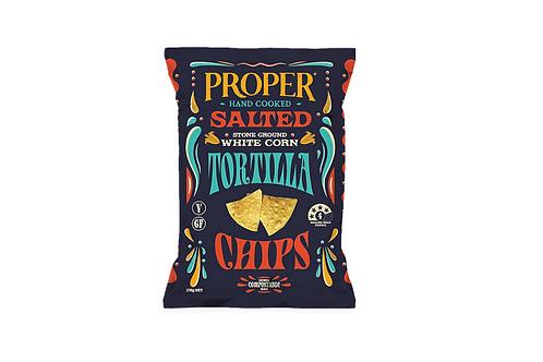 Salted Tortilla Chips - home compostable bag