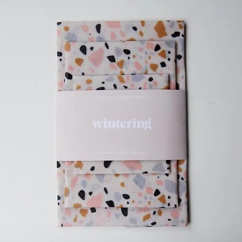 Wintering Beeswax Wrap, assorted linen prints