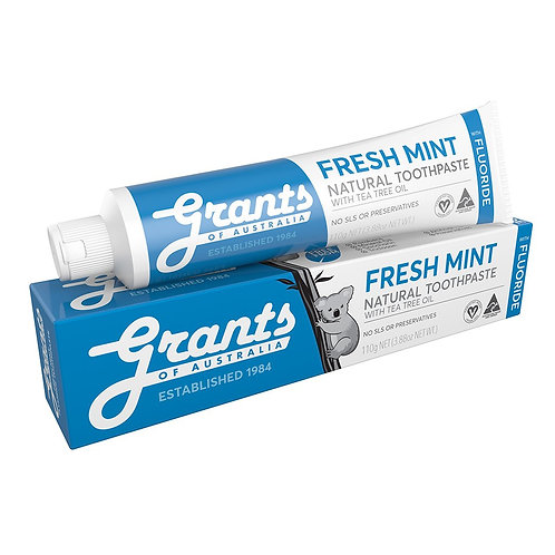 Grants Toothpaste - Fresh Mint w Fluoride