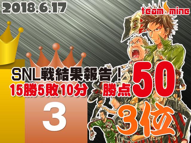 【6/17】SNL3部ファイナル!3位!