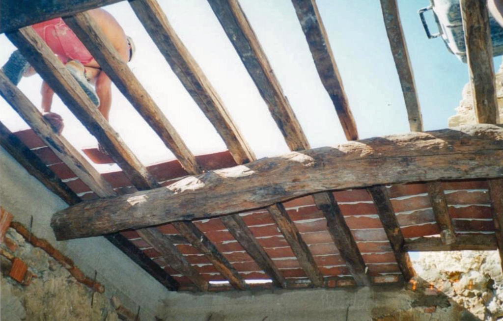 Ceiling Joists and Brick Replaced