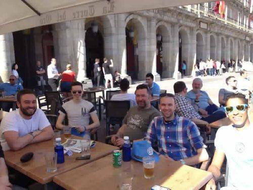 Pre match drinks in Madrid 2016