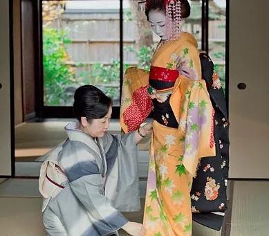 Pemakaian Kimono