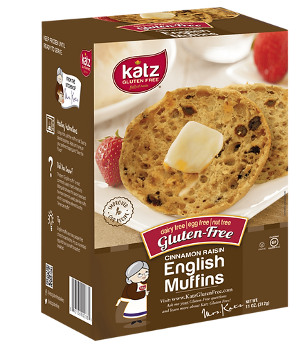 Katz GF DF Cinnamon Raisin English Muffins 11oz