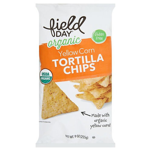 Field Day Organic Yellow Corn Tortilla Chips 9oz