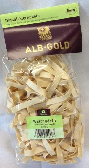 Alb Gold White Spelt Egg Broad Noodle 250g