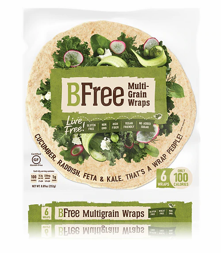 BFree GF 8inch Multigrain Wraps 8.89oz