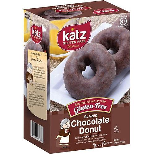 Katz GF DF Glazed Chocolate Donuts 10.5oz