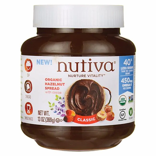 Nutiva Organic Classic Chocolate Hazelnut Spread 13oz