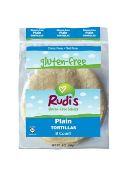 Rudi's Gluten Free Plain Tortillas 9oz