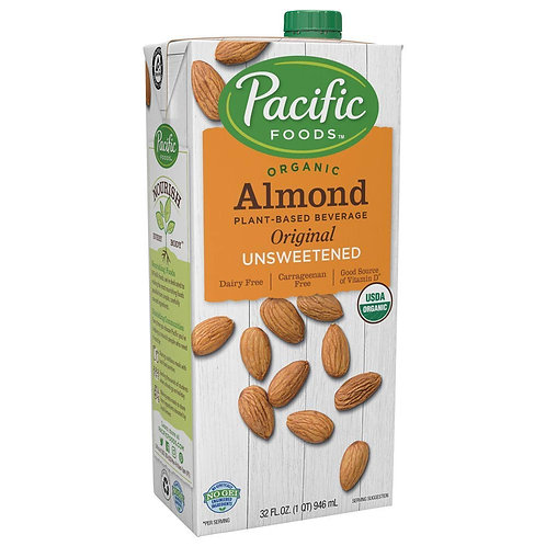 Pacific Foods DF Organic Original Unsweetened Almond Milk 32oz