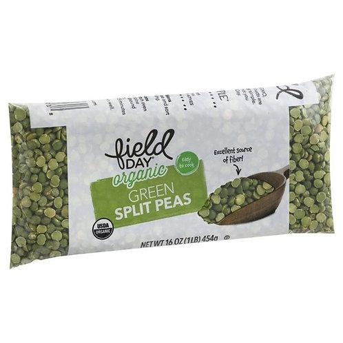 Field Day Organic Green Split Peas 16oz