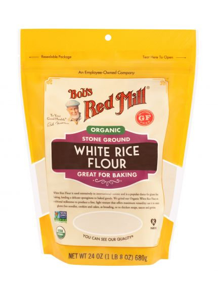 Bob's Red Mill GF Organic White Rice Flour 24oz