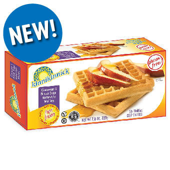 Kinnikinnick GF DF Cinnamon & Brown Sugar Homestyle Waffles 7.4oz