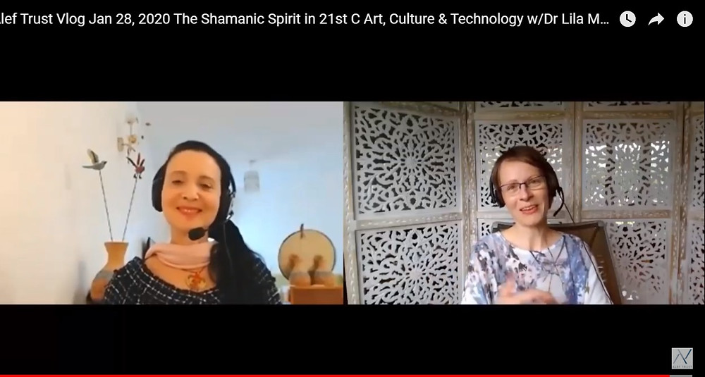 r Lila Moore  speaks with Alef Trust director, Dr Jessica Bockler on her course 'The Shamanic Spirit in 21st Century Art, Culture and Technology',