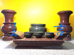 花瓶、香爐、薦盒、茶杯