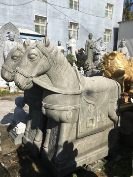 古體雕刻 馬