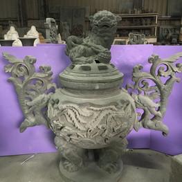 精緻雕工 淨香爐